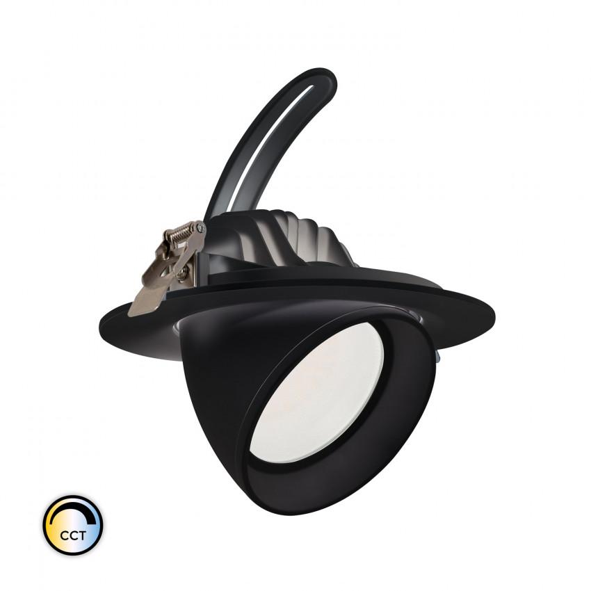 Foco Proyector Direccionable Circular LED 38W Negro SAMSUNG 125 lm/W CCT LIFUD
