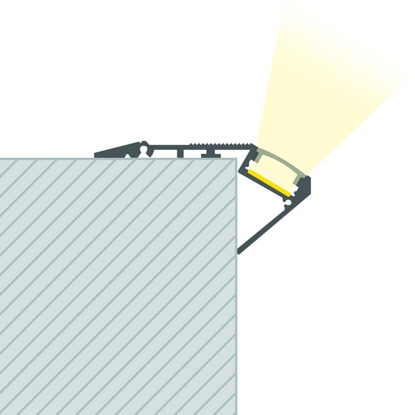 Perfil de Aluminio para Escalera 1m Tira LED hasta 12 mm