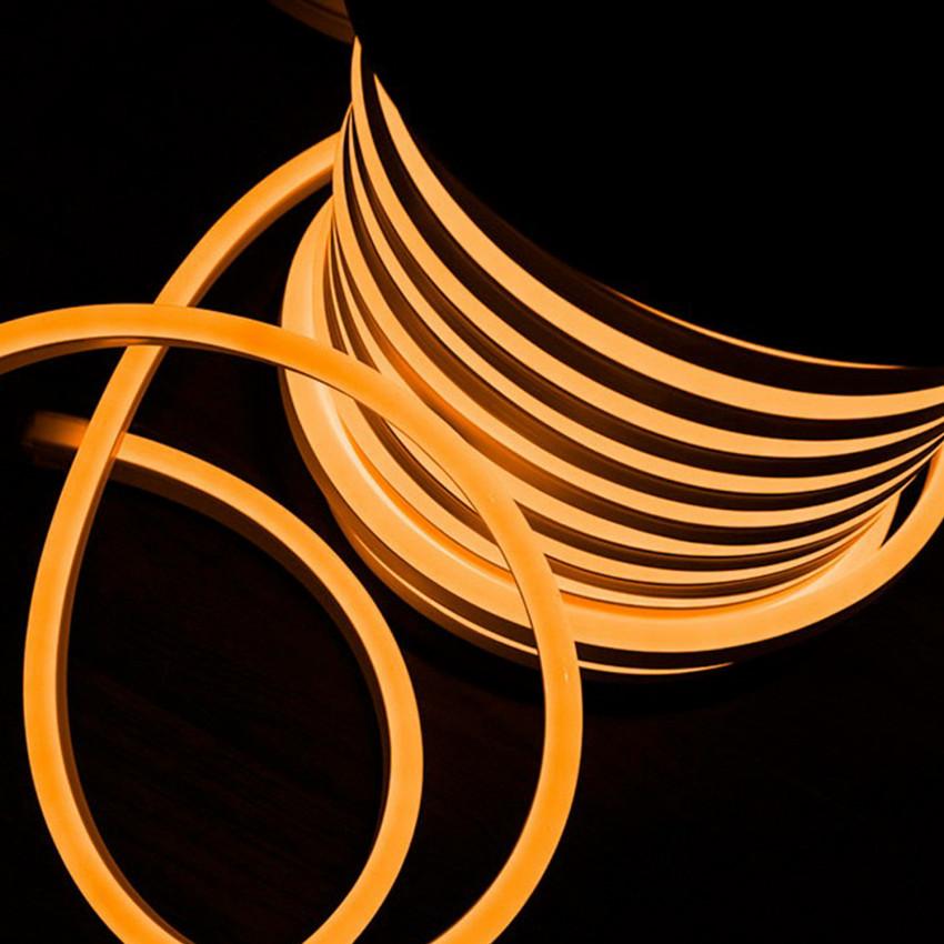 Rolo Neon LED Flexivel 120LED/m Laranja 50 Metros