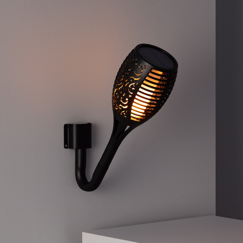Aplique Tocha LED Solar Efeito Chama