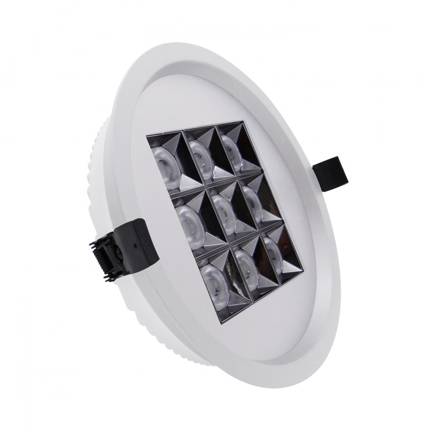 Foco Downlight LED 30W Circular (UGR17) Blanco Corte Ø 205 mm