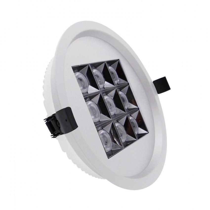 Foco Downlight LED 30W Circular (UGR17) Branco Corte Ø 205 mm