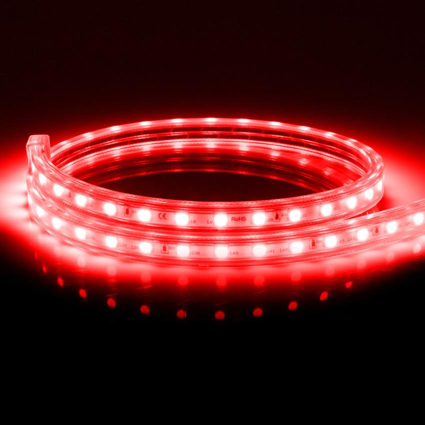 Fita LED Regulável 220V AC 60 LED/m Vermelho IP65 à Medida Corte cada 100cm