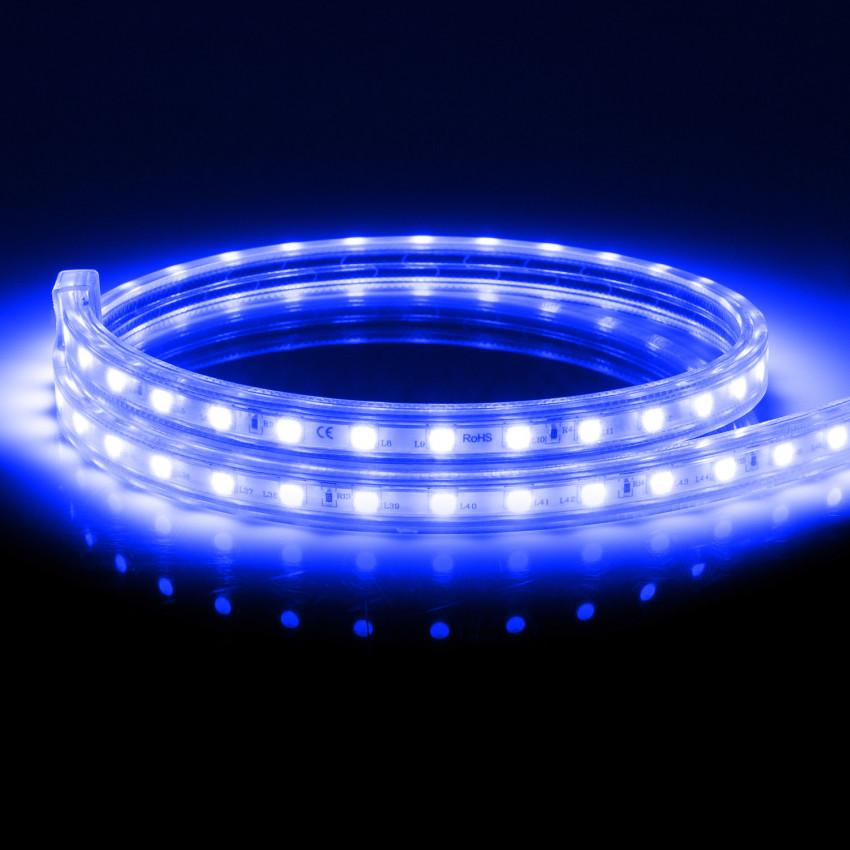 Fita LED Regulável  220V AC 60 LED/m Azul IP65 à Medida Corte cada 100cm