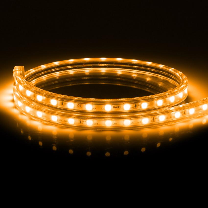 Fita LED Regulável 220V AC 60 LED/m Laranja IP65 à Medida Corte cada 100cm