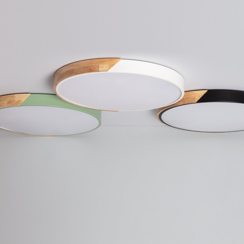 Plafón LED 36W Circular Semi-Dari CCT Seleccionable