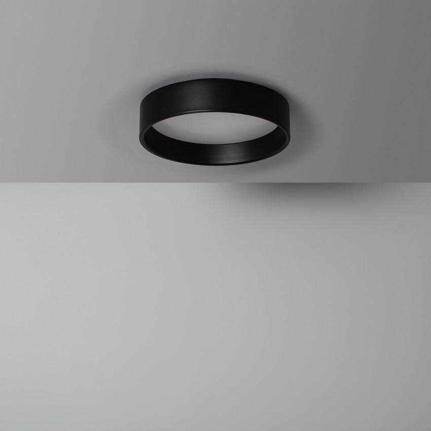 Plafón LED 15W Circular Design Negro CCT Seleccionable