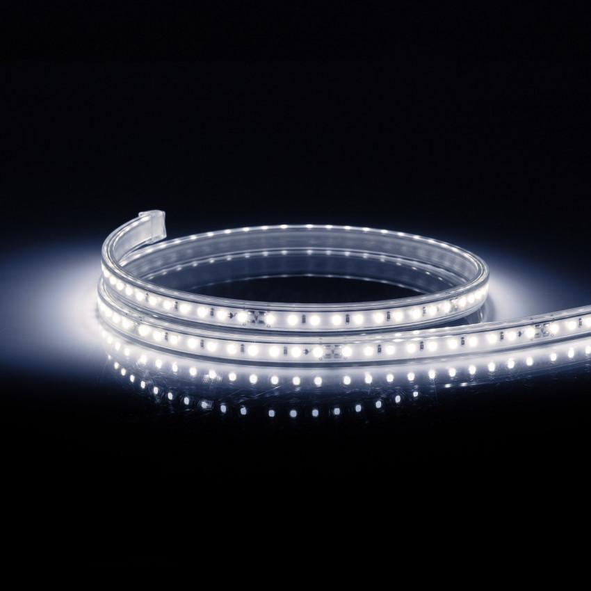 Tira LED 220V AC 100 LED/m Blanco Frío IP67 CRI85 a Medida Corte cada 10 cm