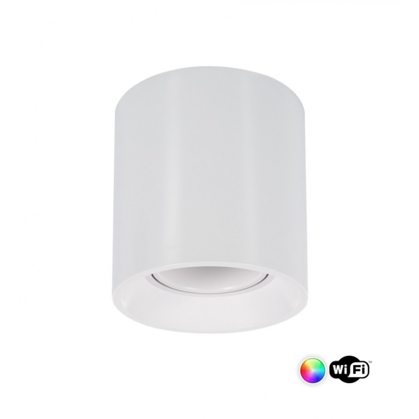 Aplique de Teto Cuarzo PC Branco Smart WiFi Regulável RGBW 4W