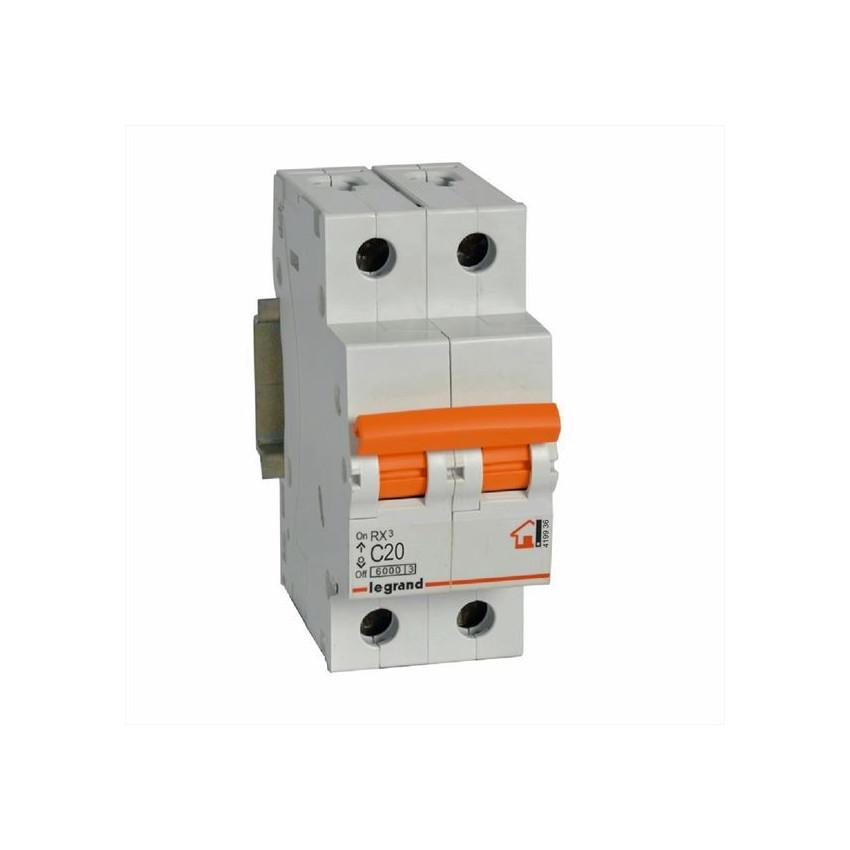 Interruptores Magnetotérmicos RX3 2P 230/400 V~ Curva C LEGRAND 419934