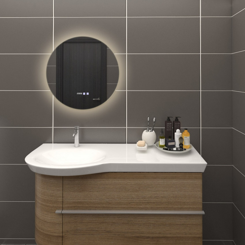 Espelho Decorativo LED Anti-embaçante Táctil Volpe 29W
