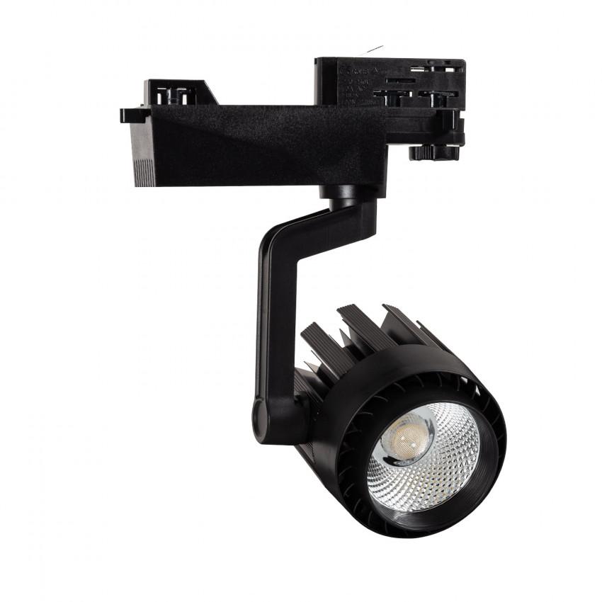 Foco LED Dora 30W Preto para Carril Trifásico