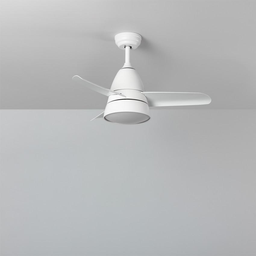 Ventilador de Techo LED Industrial Blanco 91cm Motor AC