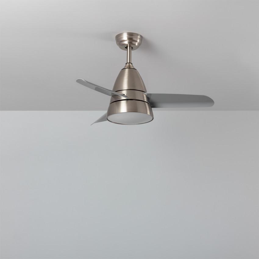 Ventilador de Techo LED Industrial Plata 91cm Motor AC