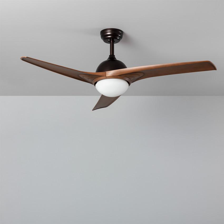 Ventilador de Techo LED Mistral Marrón 132cm Motor AC