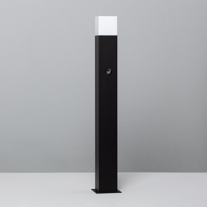Baliza Augusta Preto com Detector de Movimento PIR