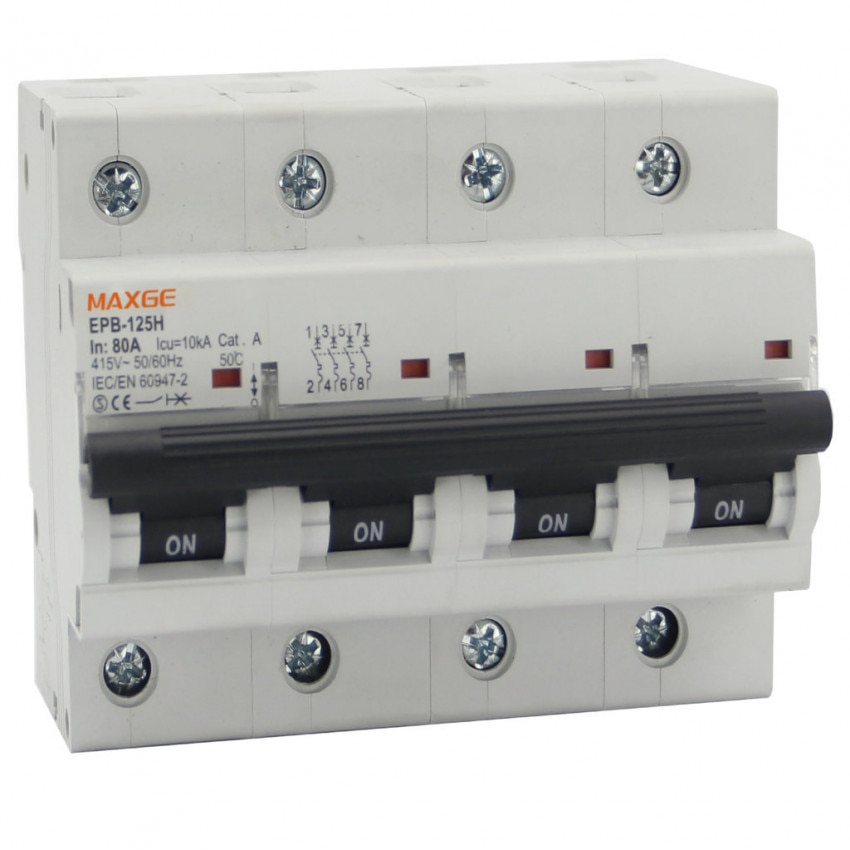 Interruptor Automático Industrial MAXGE 4P-10kA 63-125A