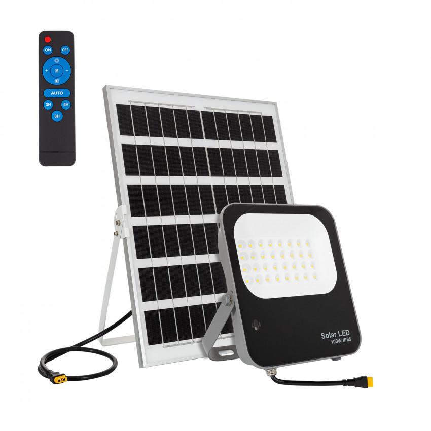Foco Projetor LED 100W Solar 170 lm/W IP65 com Controlo Remoto