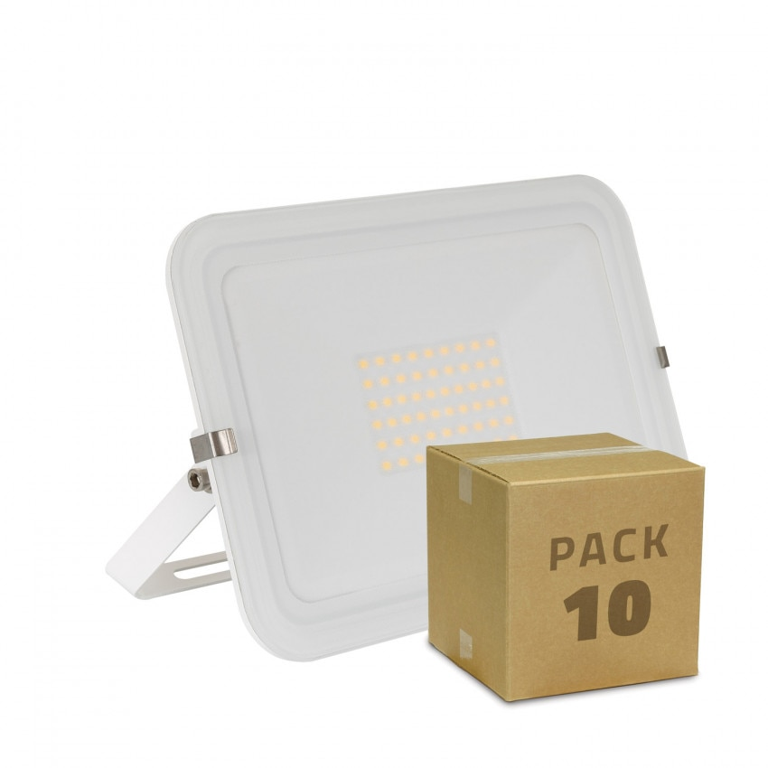 Pack Foco LED Slim Cristal 50W Branco (10 un)