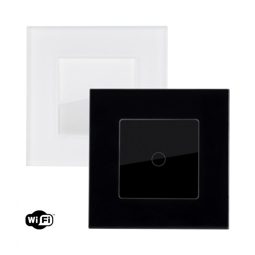 Interruptor Táctil Simples Smart WiFi com Moldura de Vidro Modern