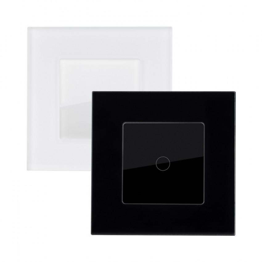 Interruptor Táctil Simples Comutado com Moldura de Vidro Modern