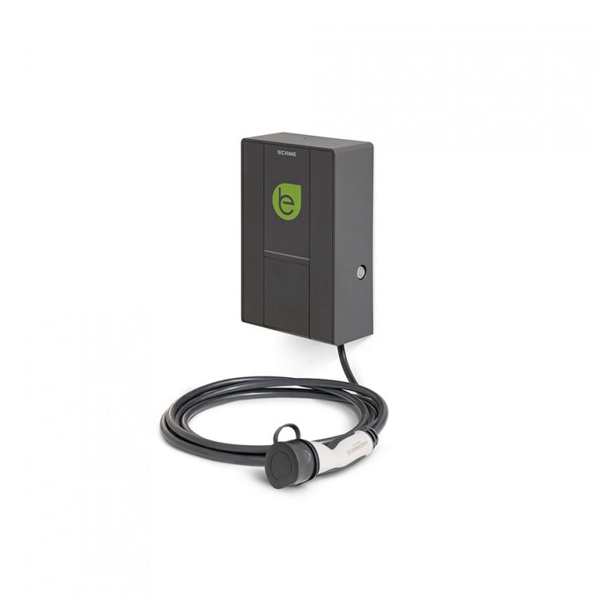Cargador Coche Eléctrico Trifásico 22 kW y Cable Mennekes con Gestión de Usuarios SCAME 205.W73-U0