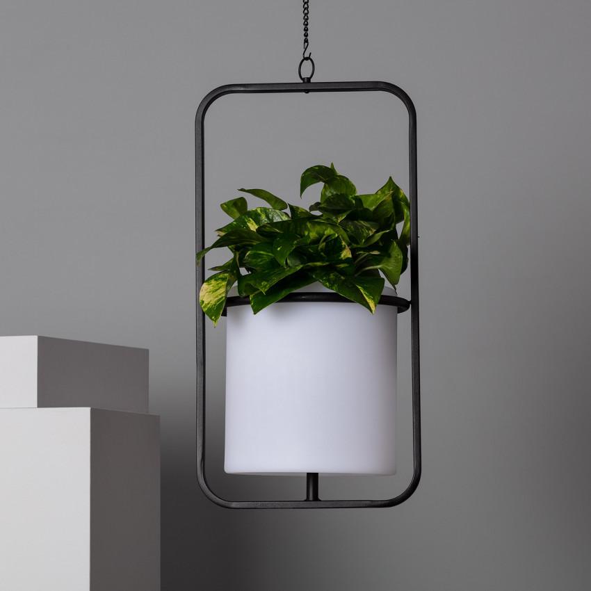 Candeeiro Suspenso LED Vaso 24cm RGBW Recarregável IP65