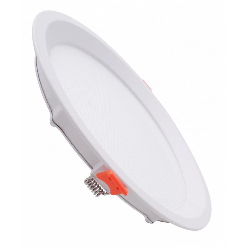 Placa LED 7W CCT Seleccionable Circular Slim LIFUD (UGR17) Corte Ø 75 mm