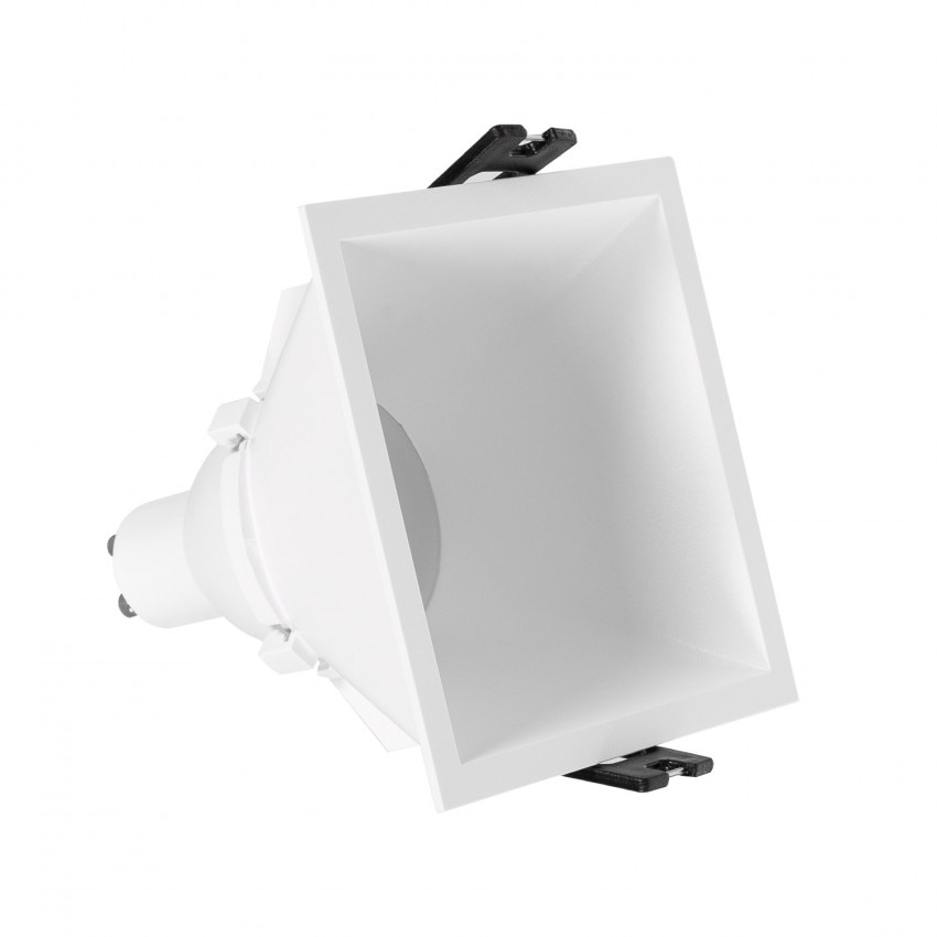 Foco Downlight Quadrado GU10 6W Corte 85x85 mm Baixo URG PC