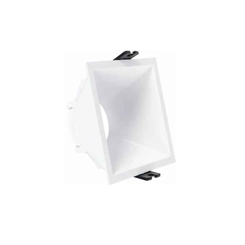 Aro Downlight Quadrado Baixo UGR PC para Lâmpada LED GU10 Corte 85x85 mm