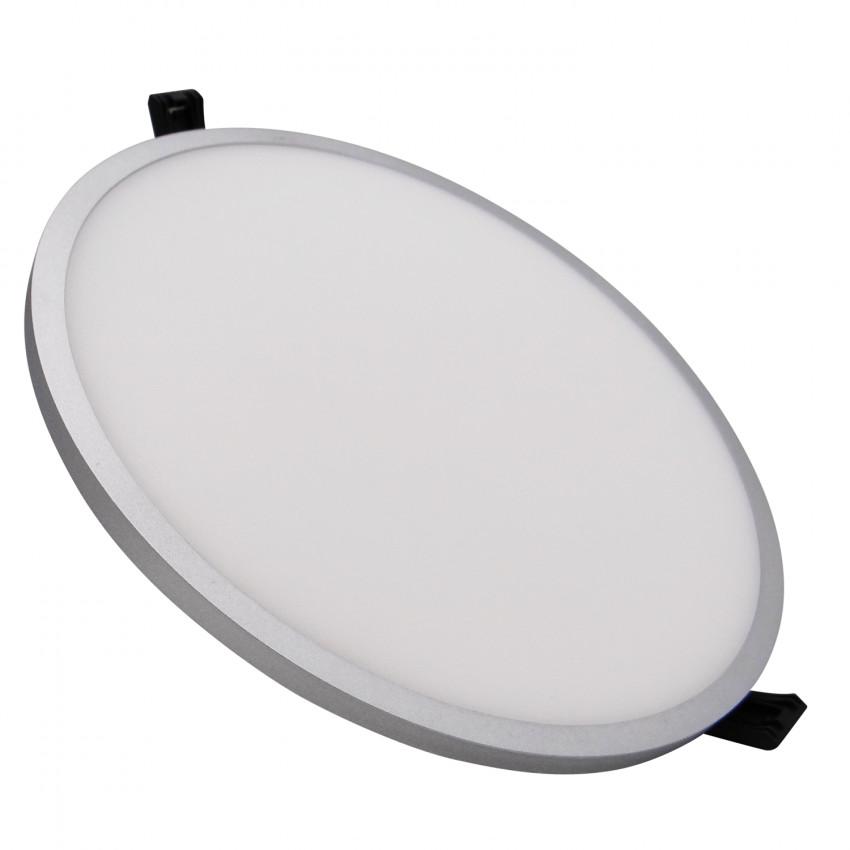 Placa LED 30W Circular Slim Surface LIFUD Gris Corte Ø205 mm