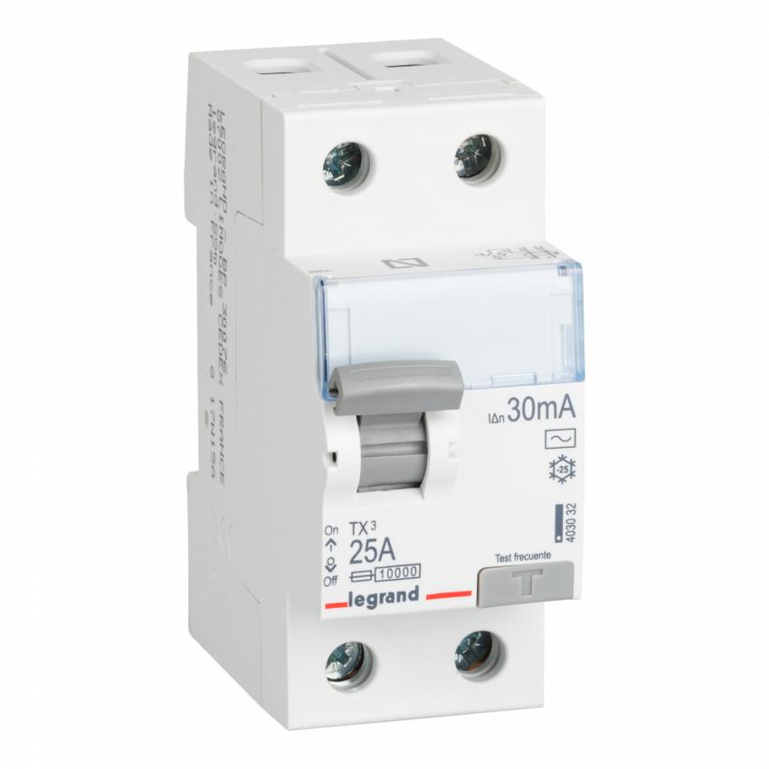 Interruptor Diferencial TX3 Terciário 2P-30mA Clase AC 25-40 A LEGRAND 403032