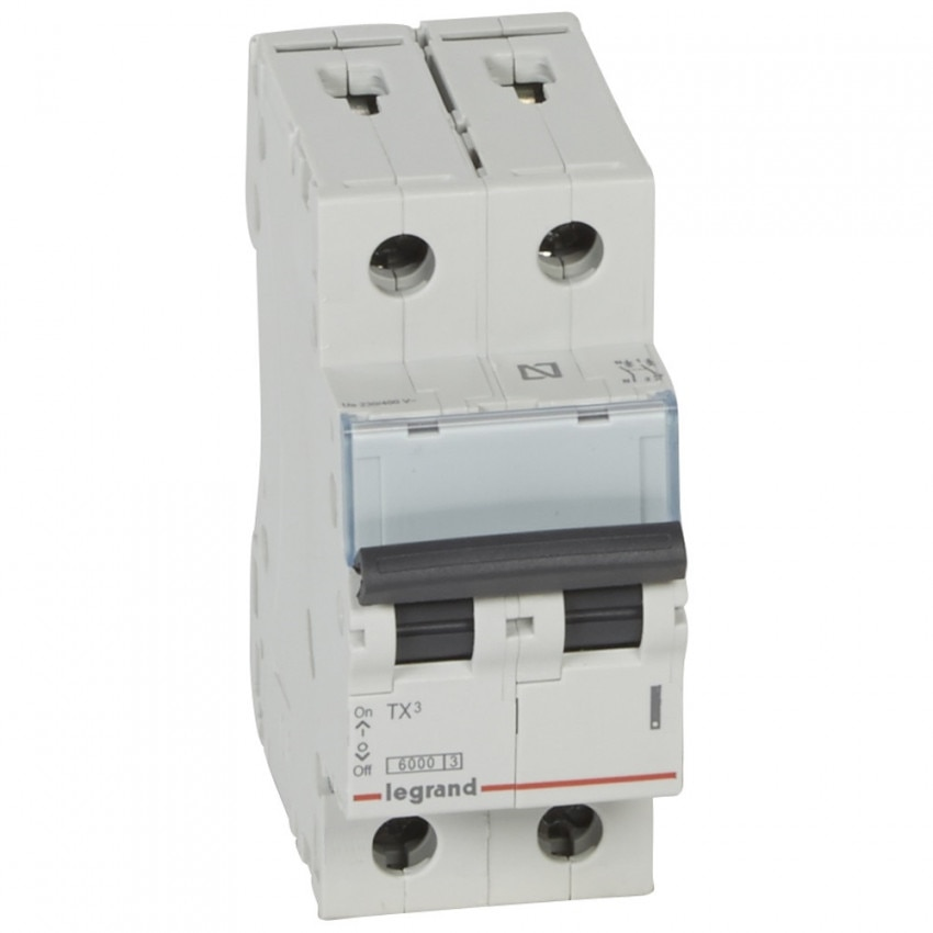 Interruptor Automático Magnetotérmico TX3 Terciario 2P Curva C 6kA 10-25A LEGRAND 403605