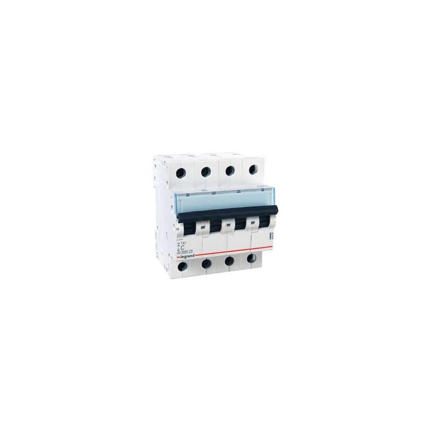 Interruptor Automático Magnetotérmico TX3 Terciario 4P Curva C 6kA 10-40 A LEGRAND 403625