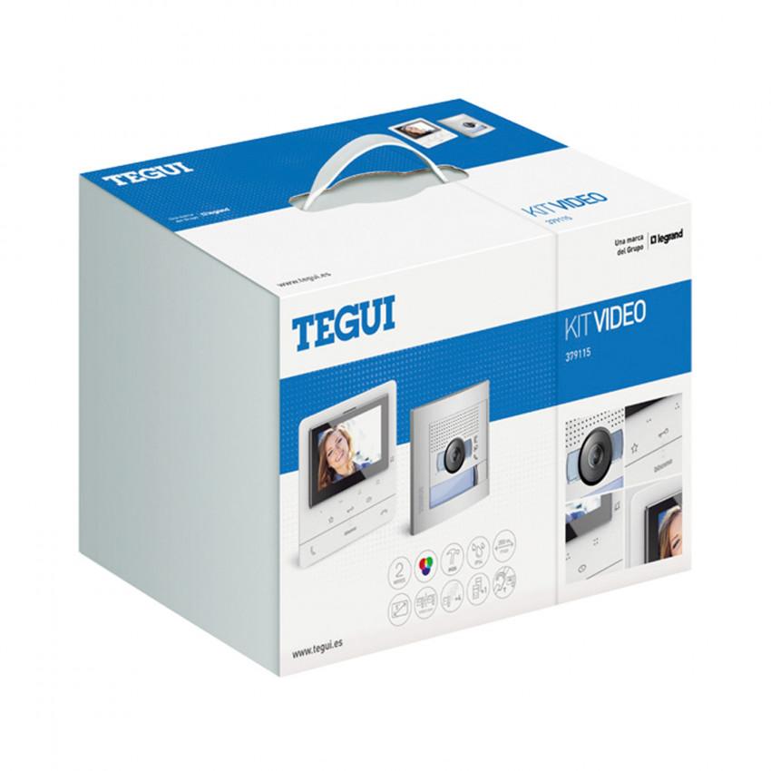 Kit Videoportero 1 Vivienda 2 Hilos con Placa SFERA NEW y Monitor Manos Libres CLASSE 100 V16E Avanzado TEGUI 379115