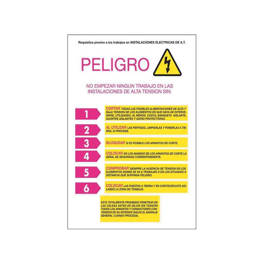 Pack 6 Unidades Cartel PVC Requisitos Previos CATU AP223R