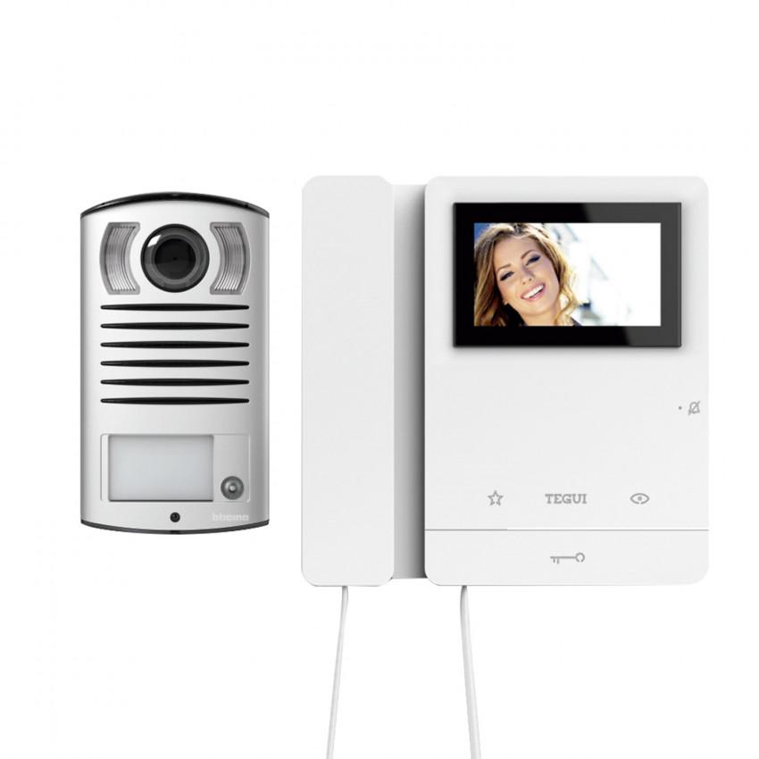 Kit Videoportero 2 Viviendas 2 Hilos con Placa LINEA 2000 y 2 Monitores Serie 8 TEGUI 378122