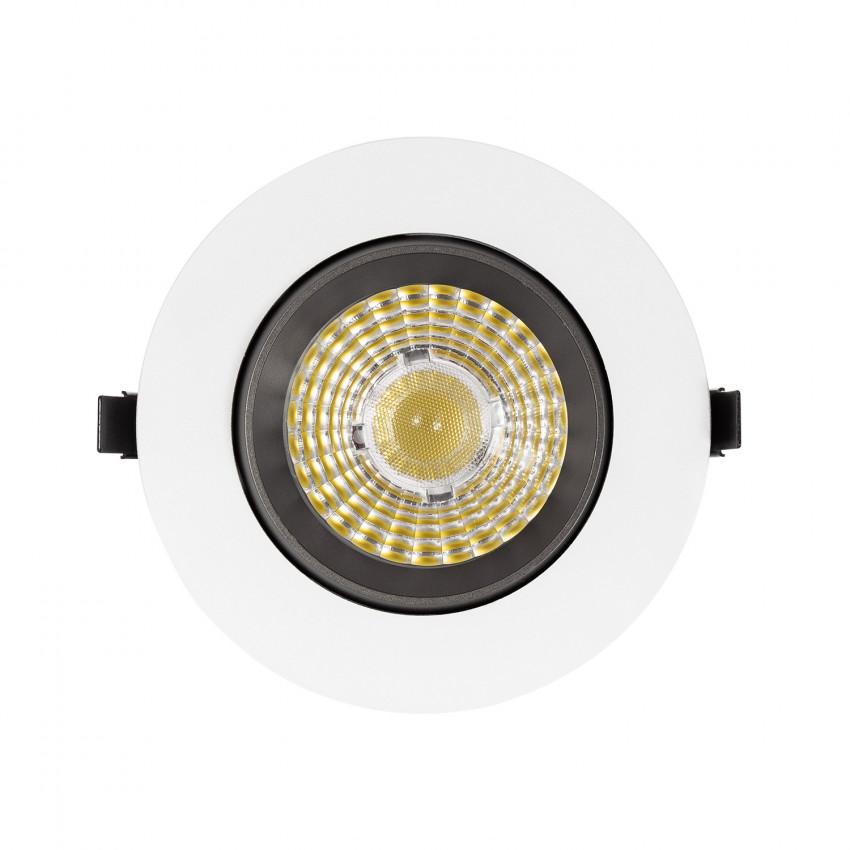 Foco Downlight LED 18W COB Direccionable 360º Gris Circular Design Corte Ø 120 mm