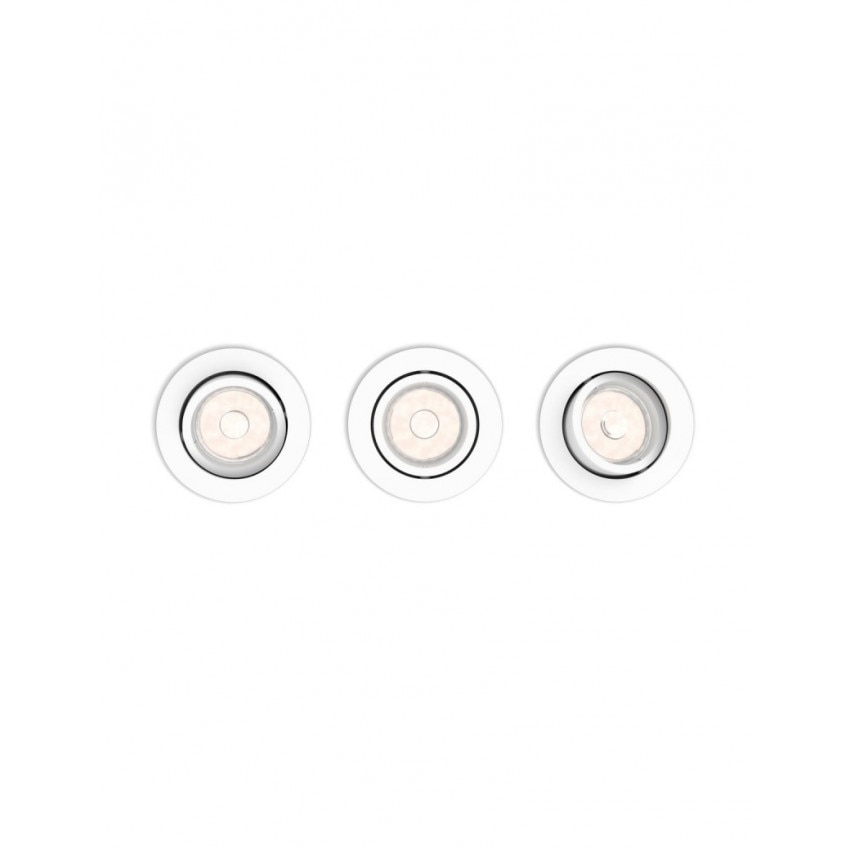 Pack 3 Unidades Foco Downlight Circular PHILIPS Donegal Corte Ø70 mm