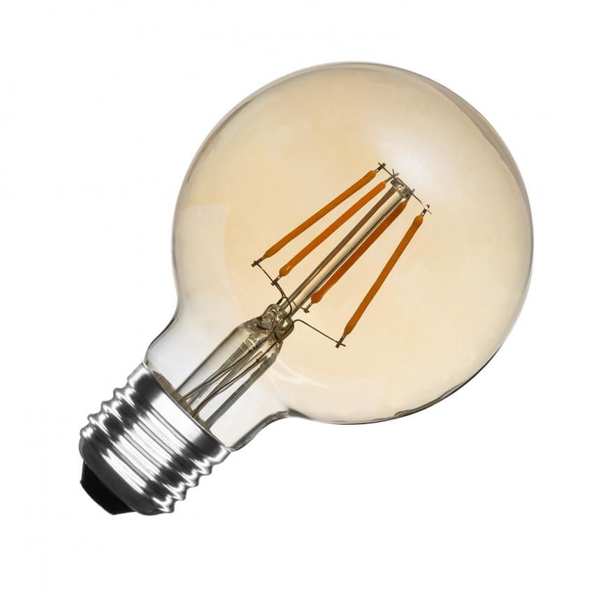 Lâmpada LED E27 Regulável Filamento Gold Globo G80 6W