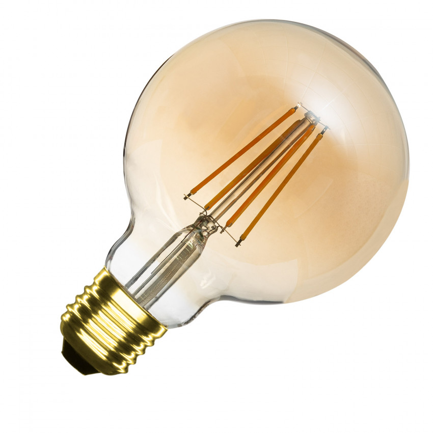 Bombilla LED E27 Regulable Filamento Gold Planet G95 6W
