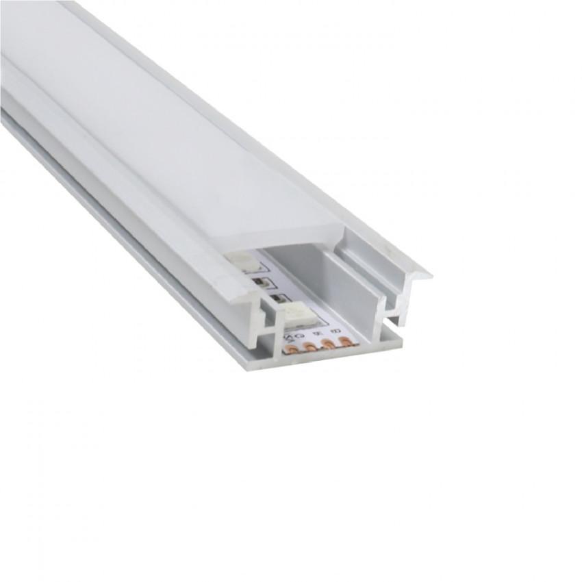 Perfil de Aluminio para chão 1m para Fitas LED