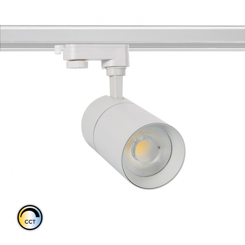 Foco LED New Mallet 30W Regulable CCT Seleccionable para Carril Trifásico (UGR 15)