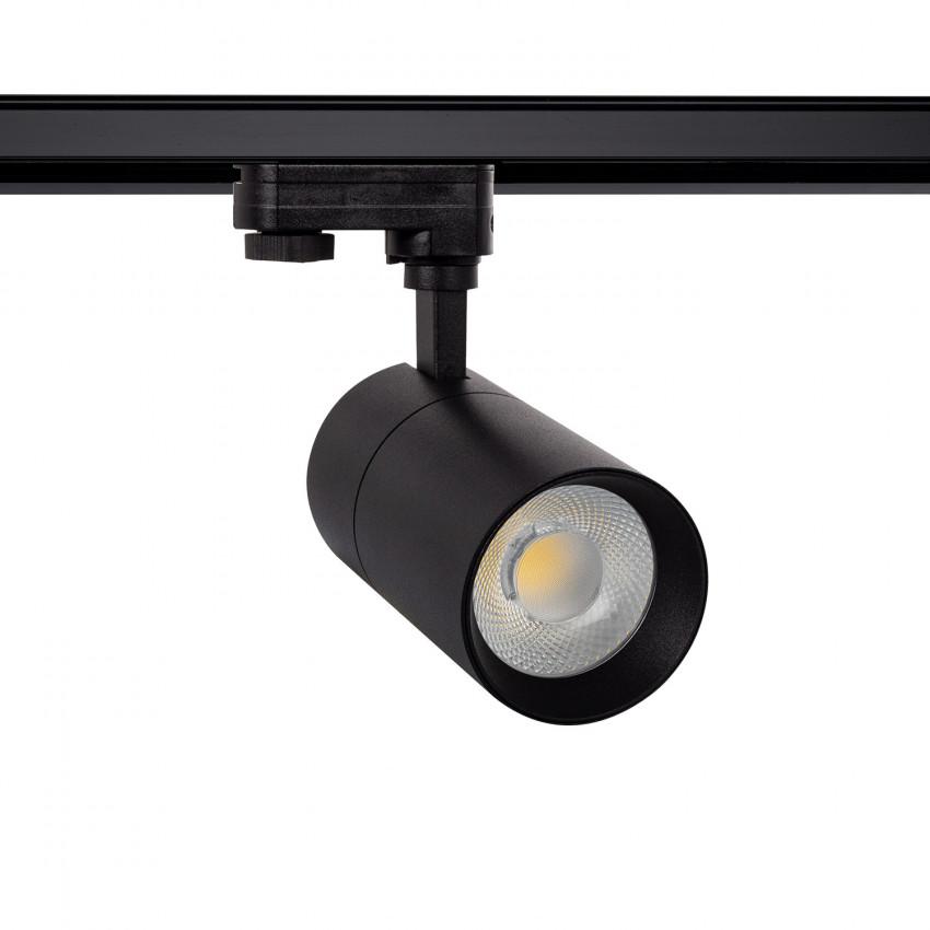 Foco LED New Mallet Preto 20W Regulável No Flicker para Carril Trifásico (UGR 15)