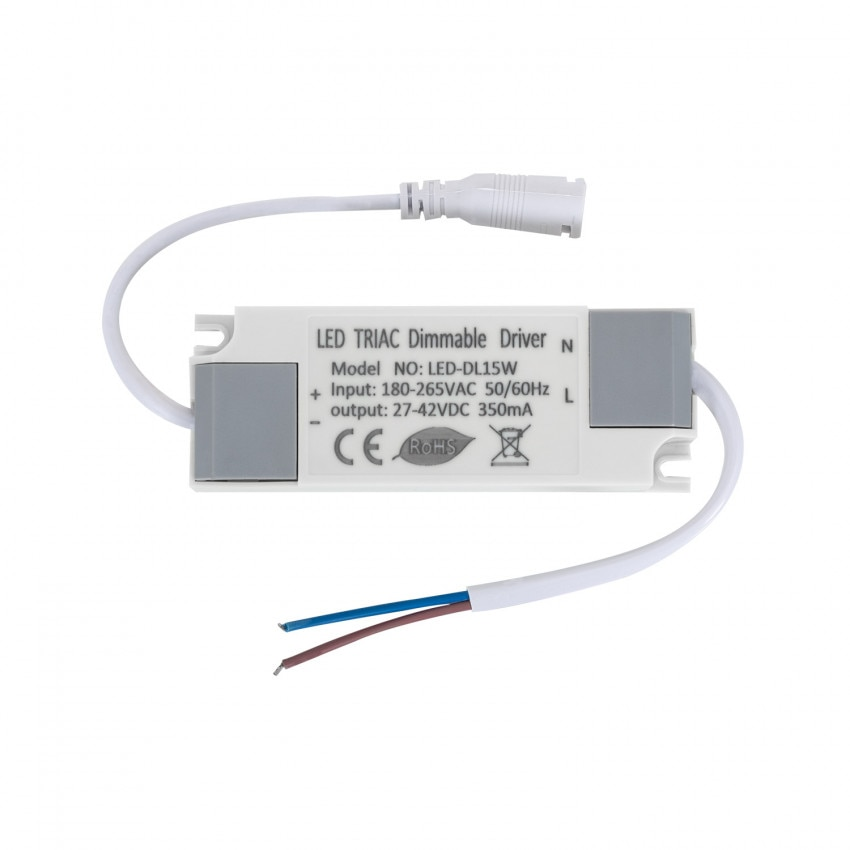Driver Regulable TRIAC 180-265V No Flicker Salida 27-42V 350mA 15W