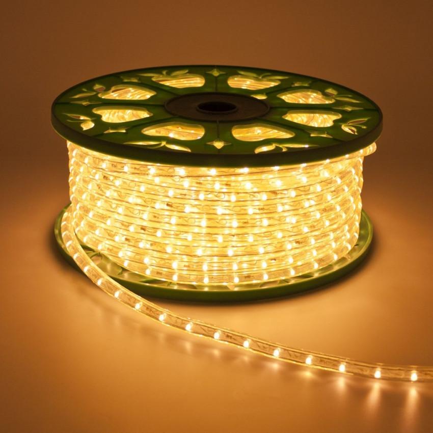 Mangueira LED 220V AC 36 LED/m Branco Quente IP65 à Medida a cada 100cm