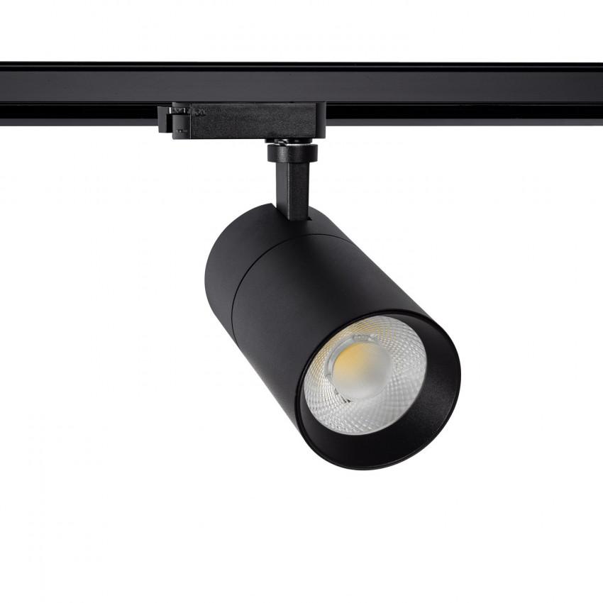 Foco LED New Mallet Preto 30W Regulável No Flicker para Carril Monofásico (UGR 15)