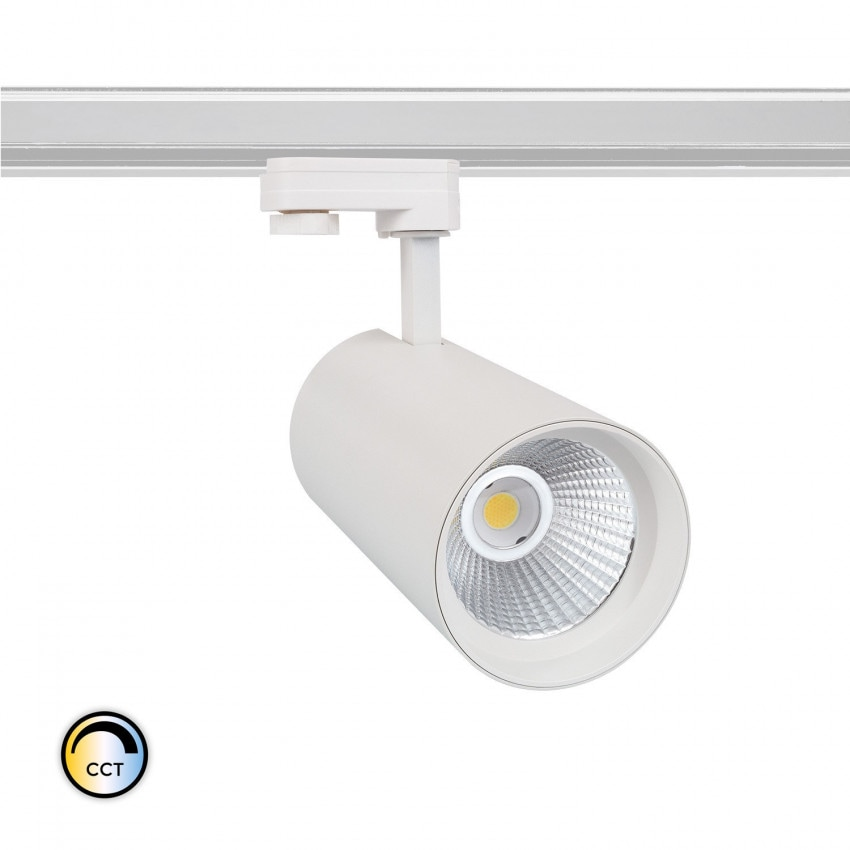 Foco LED New d'Angelo Blanco 40W (CRI 90) CCT LIFUD para Carril Trifásico