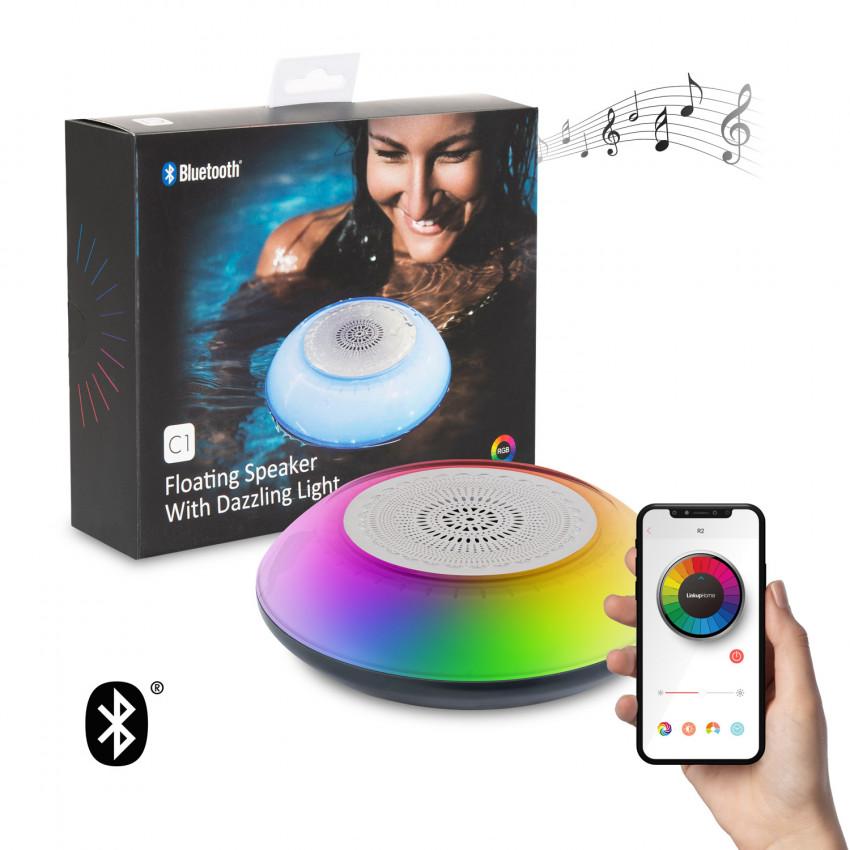 Altavoz Bluetooth Flutuante para piscina com Luz LED RGBW IP67 Impermeável para Smartphone