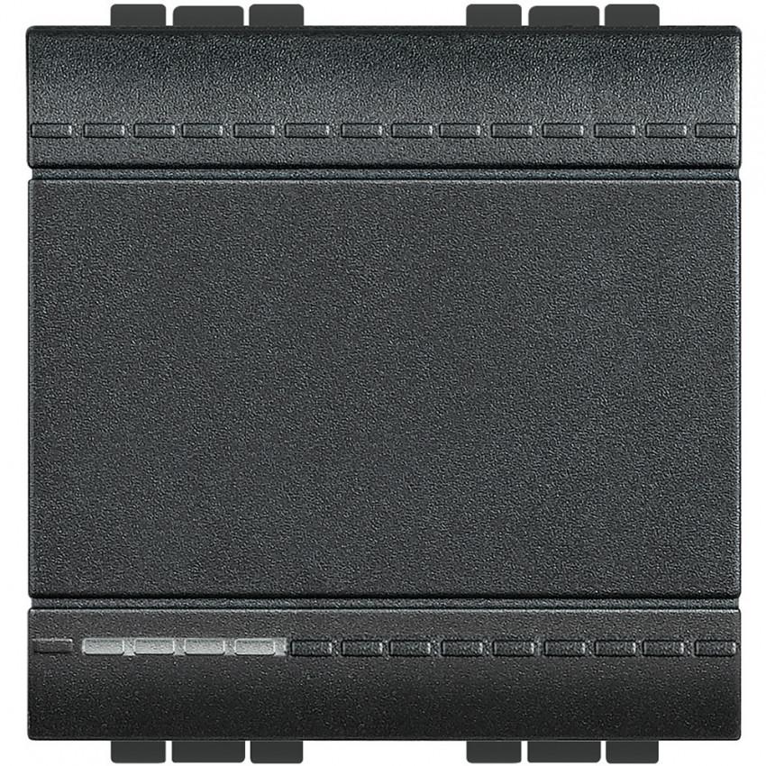 Mecanismo Interruptor Pulsador Símbolo Campana 2 Módulos 16A 250V AC Borne Auto BTicino Living Light L4001M2A